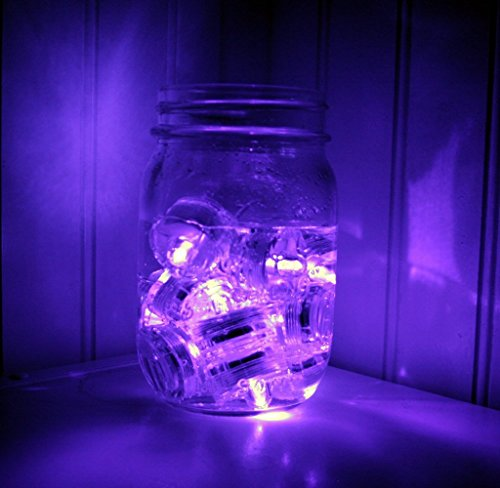 Generic Hot Submersible Battery Operated Led Tea Lights Floral Vase Waterproof Wedding Decorating Bulb - Purple