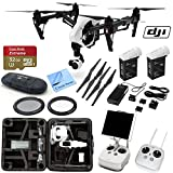 DJI Inspire 1 With CS Advanced Kit. Includes: Inspire 1 Camera with Zenmuse 3-Axis Gimbal, 2 Transmitters for Inspire 1 Quadcopter, Mobile Device Holder, 2x TB47B Intelligent Flight Battery for Inspire 1 (99.9Wh), ND Filter, Flight Battery Charger, Charging Cable for Transmitter, Power Cord, 4 x Spare Prop CW/CCW Pairs, Travel Case, SanDisk Extreme Plus 32GB UHS-I/U3 Micro SDHC Memory Card (SDSDQXN-032G-G46A), Card Reader, Brush Blower, Cleaning Kit & CS Microfiber Cleaning Cloth