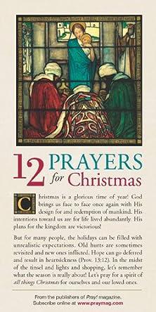 12 Prayers for Christmas 50-pack