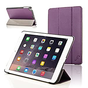 Forefront Cases Leather Case Cover/Stand with Magnetic Auto Sleep Wake Function for Apple iPad Mini - Purple
