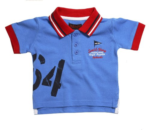 Soul & Glory Baby Boys Royal Blue Polo Shirt - 18-24 months