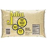 Julia - Cassava Flour White - 35.2oz (PACK OF 02) | Farinha de Mandioca Branca Crua - 1Kg