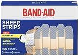 Johnson & Johnson Band-Aid Sheer Adhesive Bandages, 3/4 x 3, 100 per Box