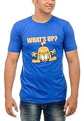 Shop Your Style Men's Cotton T-Shirt (ZYN00B15_L, Blue, Large)