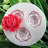 3d Rose Flowers Fondant Cake Cookie Chocolate Soap Mold Cutter Modelling Tools