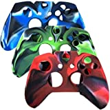3 Pack Combo Protective Silicone Case for Microsoft Xbox One Controller- Camouflage Red / Blue / Green Color