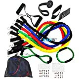 TAG3 (TM) BRAND NEW Unisex 13 Pieces 7 Level Exercise Fitness Resistance Bands 100% Non Toxic Latex Independance...