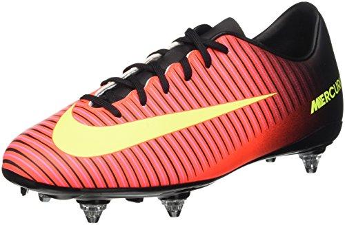 Nike Jr Mercurial Vapor XI Sg, Scarpe da Calcio Allenamento Bambini e Ragazzi, Multicolore (Total Crimson/Volt-Black-Pink Blast), 37 1/2 EU
