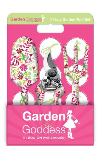 Boston Warehouse Floral Brights Garden 3-Piece Garden Tool Set