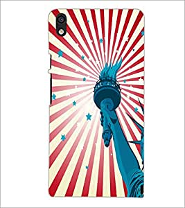 PrintDhaba Liberty Of Statue D-5582 Back Case Cover for HUAWEI ASCEND P6 (Multi-Coloured)