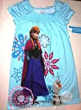 Disney Frozen Girls Nightgown 7/8 BONUS with 24 Frozen Stickers