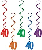 40 Whirls (asstd colors) Party Accessory  (1 count) (5/Pkg)