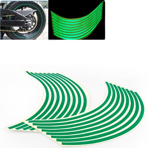 8mm Green Reflective Rim Tape Wheel Stripe Decal