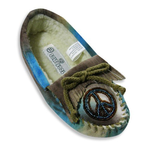 Cheap Sole Kool – Girls Tie Dyed Moccasin, Turquoise, Cocoa 19708 (B005XCKRO4)