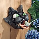 "9"" Classic Feline Sculpture Bird House Feeder"