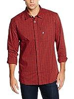 Peak Performance Camisa Hombre Gust Ls (Rojo / Azul Noche)