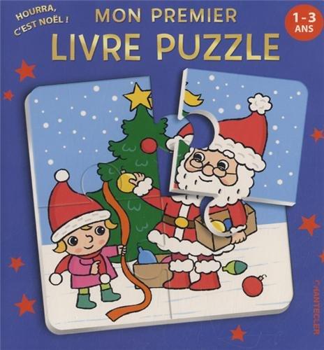 Mon premier livre puzzle Hourra c'est Noël! 1-3 ans