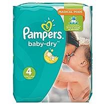 Pampers Baby Dry Windeln, Monatspackung, Größe 4 (Maxi), 8-16 kg, (1 x 174 Windeln)  Von Pampers