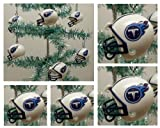 "NFL Football Tennessee Titans Set of 6 Holiday Christmas Tree Ornaments Featuring Titans Team Helmet Ornaments Ranging from 1.5"" to 2"" Tall Amazon.com"