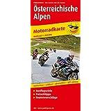 Motorradkarte Österreichische Alpen: Mit Ausflugszielen, Einkehr- & Freizeittipps und Tourenvorschlägen, wetterfest, reissfest, abwischbar, GPS-genau. 1:250000