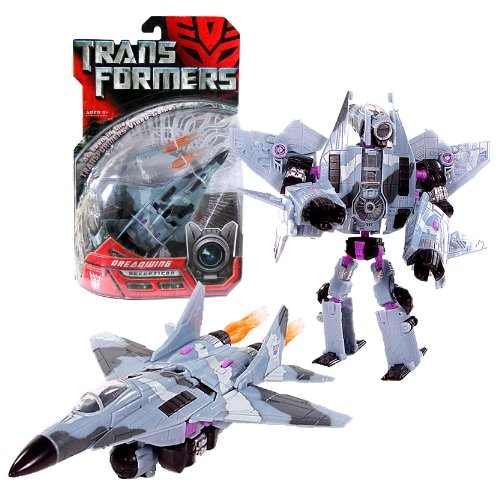 Hasbro Year 2007 Transformers Movie Series 1 Deluxe Class 6 Inch Tall Robot Action Figure - Decepticon DREADWING with 2 Missile Launchers and 2 Missiles (Vehicle Mode: Fighter Jet) by Hasbro