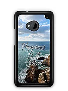 YuBingo Happiness is a Choice Designer Mobile Case Back Cover for HTC One M7