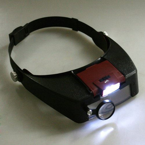 Imonic Head Headband Glasses Magnifier Loupe 10X With Led Light Watch Repair