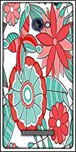 Snoogg Abstract Floral Background Designer Protective Back Case Cover For HTC Windows Phone 8S