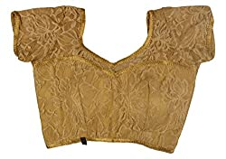 Maya Women's Net Blouse (16_34, Golden, 34)