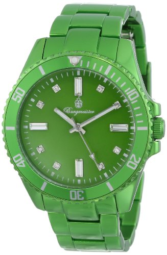 Burgmeister Color Sport Women's Quartz Watch with Green Dial Analogue Display and Green Bracelet BM161-090A