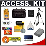 Accessory Kit for Canon EOS 5D 20D 30D & 40D Digital SLR Camera with Transcend 2GB 133X CompactFlash (CF) Card + Spare BP-511 Battery for Canon + High Speed USB 2.0 CompactFlash (CF) Card Reader + Deluxe Photo Video 57