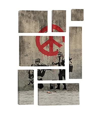 Banksy Soldiers Painting Peace 8-Piece Giclée On Canvas