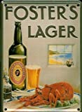Fosters Lager Lobster metal postcard/ mini sign (hi)