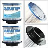 2 PACK Clarathon Spa Filter Cartridges for: Aero Spa , Aqua, Blue Wave, Swim Time, TheraPure, Therma Spa, Thera-Spa