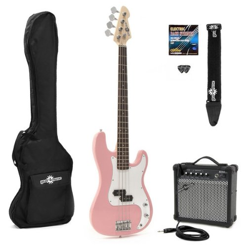 Electric G-4 Bass Guitar & Amp Pack Pink