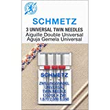 Euro-Notions Twin Machine Needle, Size 1.6/70 (1), 2.0/80 (1), 3.0/90 (1)