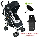 Petite Star Njoy Bubble Reversible Stroller - Black and Grey