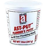 AST-PUT 25201 Plumber's Putty, Professional Grade, Tan, 14 oz. Tub