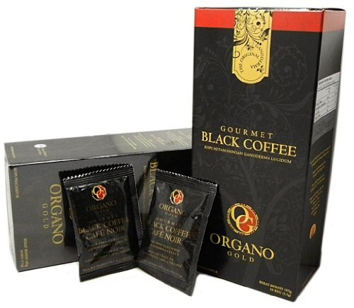 4 Boxes Organo Gold Gourmet Cafe Noir, Black Coffee 100% Certified Ganoderma Extract Sealed (1 Box of 30 Sachets) by Organo Gold