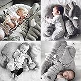 "Baby Kids Long Nose Elephant Doll Soft Plush Stuffed Toy Waist Throw Pillow Cute ""Gray 5060 ""No.32"