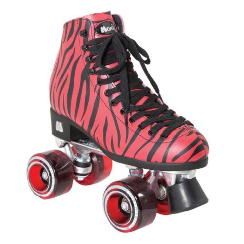 Moxi Zebra Outdoor Skates - Moxi Outdoor Roller Skates - Moxi Zoo roller skates white with green led lighting wheels double line skates adult 4 wheels two line roller skating shoes patines