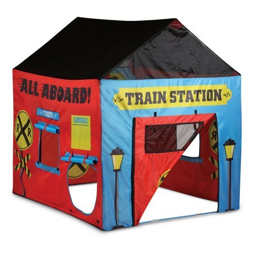 Pacific Play Train Station House Tent front-776209