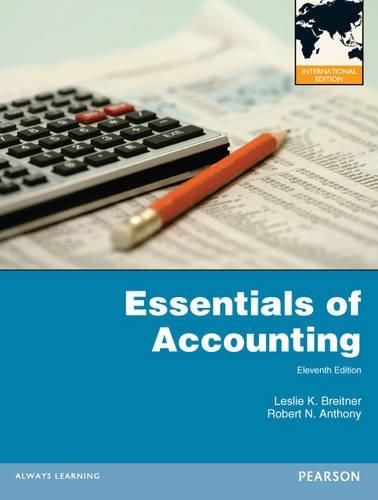 Essentials of Accounting:International Edition