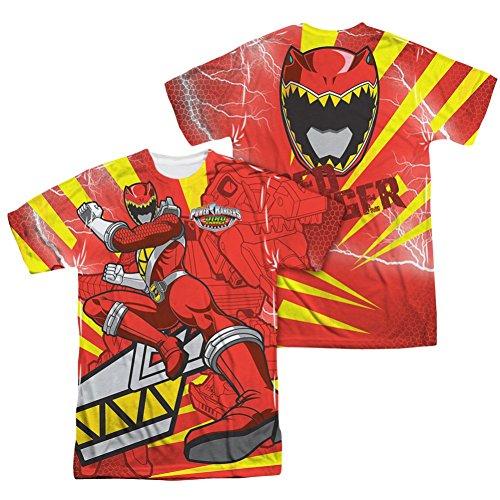 Power Rangers Red Ranger Kick All Over Front/Back T-Shirt
