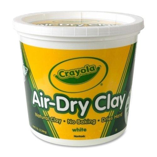 Binney and Smith Air-Dry Clay, 5lb, Nontoxic, White SKU-PAS945229