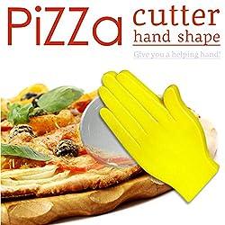 LussoLiv Creative Palm Shape Pizza Slicer Cutter Knife Cake Bread Cutter
