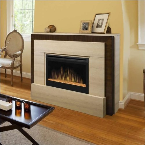 Dimplex Gibraltar Mantel Electric Fireplace in Tavertine picture B008LBELK0.jpg