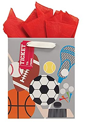 The Gift Wrap Company Gift Bags (Set of 6), All Star, Medium, Multicolor