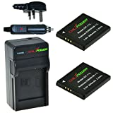 ChiliPower Canon NB-11L 800mAh Battery 2-Pack + Charger (UK Plug) for Canon PowerShot A2300 IS, A2400 IS, A2500, A2600, A3400 IS, A3500 IS, A4000 IS, ELPH 110 HS, ELPH 115 HS, ELPH 130 HS, ELPH 320 HS, ELPH 340 HS