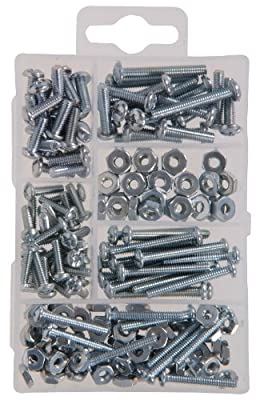 The Hillman Group 591518 Small Machine Screws with Nuts Assortment, 195-Pack